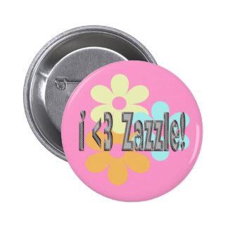 I <3 Zazzle! Button