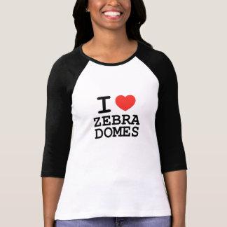 I <3 Zebra Domes T Shirts