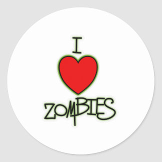 I <3 Zombies! Classic Round Sticker