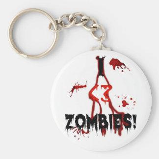 I <3 Zombies! - Keychain