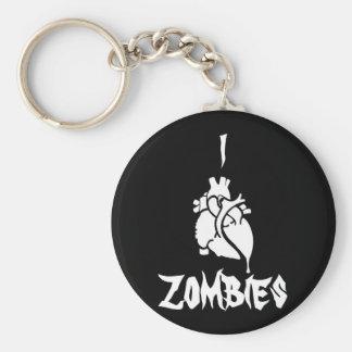 I <3 Zombies Keychain