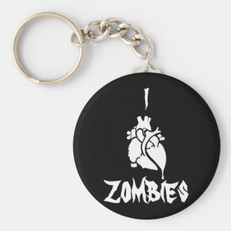 I <3 Zombies Basic Round Button Keychain