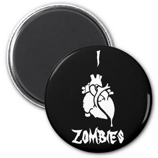 I <3 Zombies Magnet
