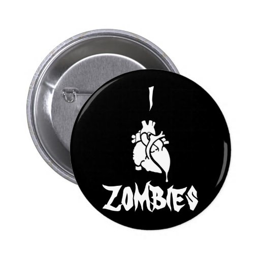 I <3 Zombies Pinback Button