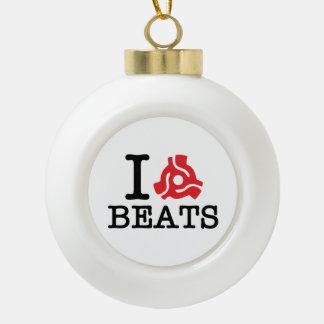 I 45 Adapter Beats Ceramic Ball Christmas Ornament