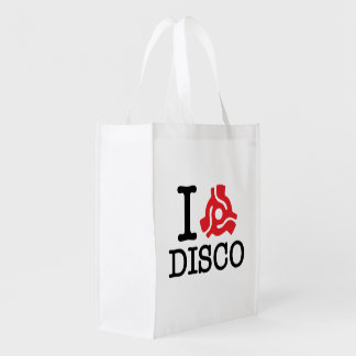 I 45 Adapter Disco Grocery Bag