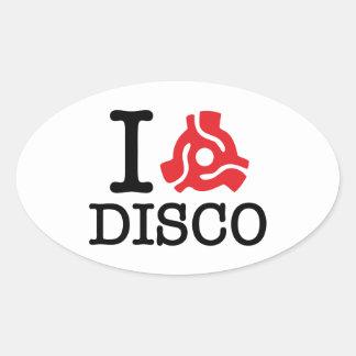 I 45 Adapter Disco Oval Sticker