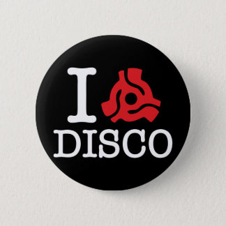 I 45 Adapter Disco Pinback Button