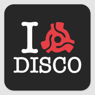 I 45 Adapter Disco Square Sticker