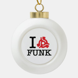 I 45 Adapter Funk Ceramic Ball Christmas Ornament