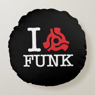 I 45 Adapter Funk Round Pillow