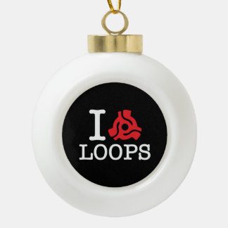 I 45 Adapter Loops Ceramic Ball Christmas Ornament