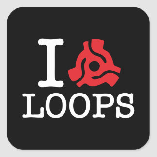 I 45 Adapter Loops Square Stickers