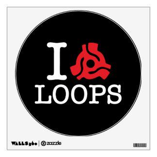 I 45 Adapter Loops Wall Sticker