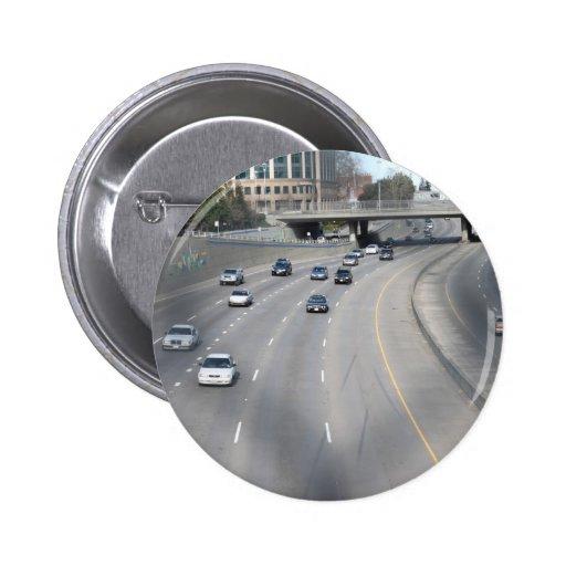 I-5 en Sacramento, CA Pin Redondo 5 Cm