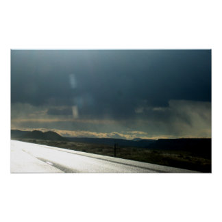 I-84 rain clouds and sun - Rays Poster