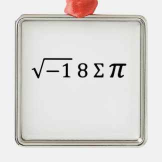 I 8 Sum Pi Metal Ornament