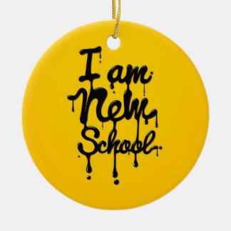 I a new school (, Swag Dopa, Hipster) Adorno Navideño Redondo De Cerámica