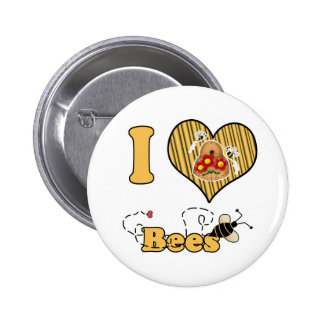 I abejas del corazón (amor) con la colmena pins