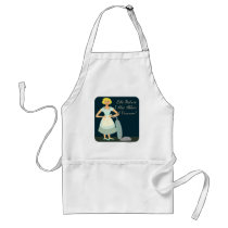 I abhor a vacuum funny housewife humor adult apron