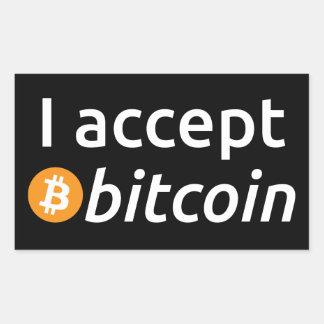 I Accept Bitcoin Rectangular Sticker