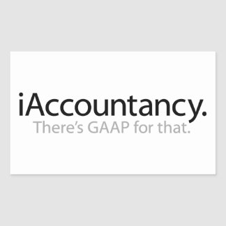 i Accountancy - There's GAAP For That Rectangle Sticker