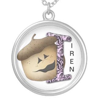 I Acorn Round Pendant Necklace