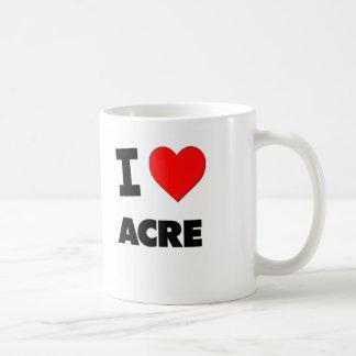 I acre del corazón tazas de café