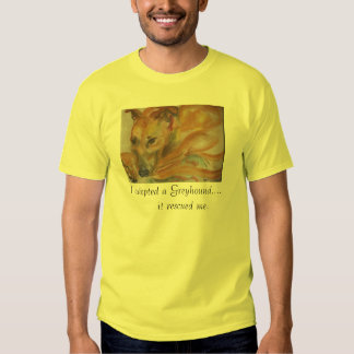 I adopted a greyhound...it rescued me t-shirt