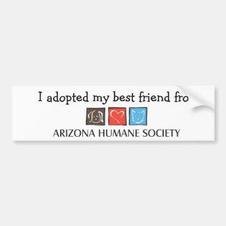 I Adopted My Best Friend Bumper Sticker