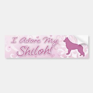 I Adore my Shiloh Shepherd Bumper Sticker Car Bumper Sticker