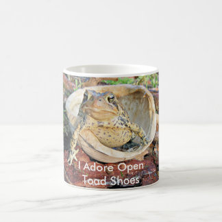 I Adore Open Toad Shoes Toad In A Turtle Shell Coffee Mug