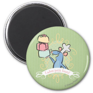 I adore petit fours! 2 inch round magnet