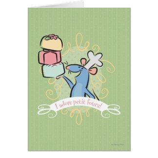 I adore petit fours! greeting card