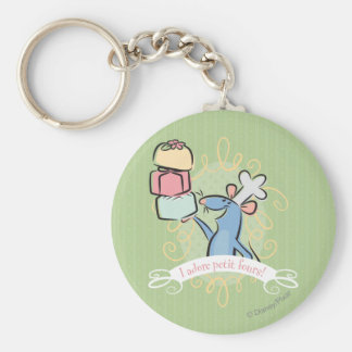 I adore petit fours! keychain