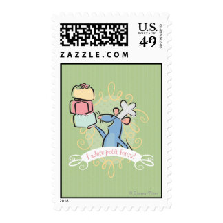 I adore petit fours! postage stamp