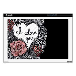 "I Adore You Decal For 17"" Laptop"