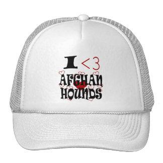 I afganos del corazón (amor) gorras de camionero