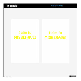 I Aim to Misbehave Decals For Kindle Fire
