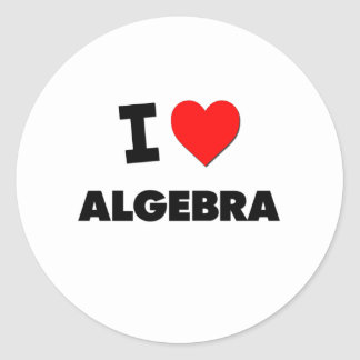 I álgebra del corazón pegatina redonda