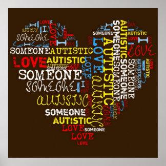 I❤️ alguien poster autístico