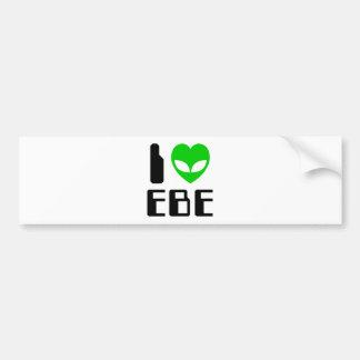 I Alien Heart EBE Bumper Stickers