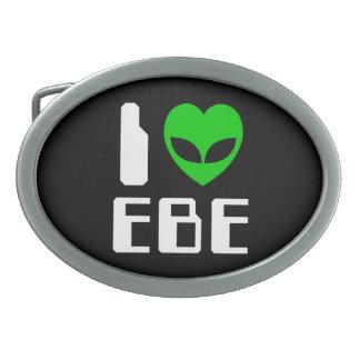 I Alien Heart EBE Oval Belt Buckles