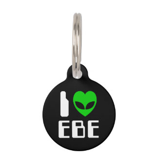 I Alien Heart EBE Pet Name Tag