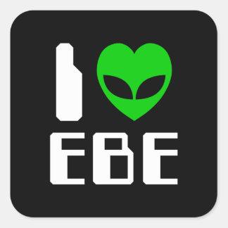 I Alien Heart EBE Square Sticker