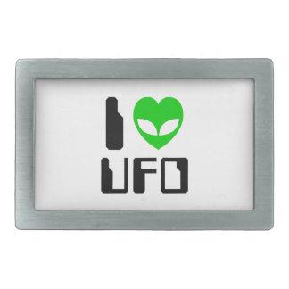 I Alien Heart UFO Belt Buckle