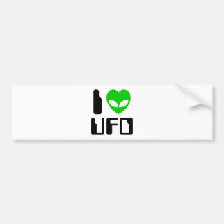 I Alien Heart UFO Bumper Sticker