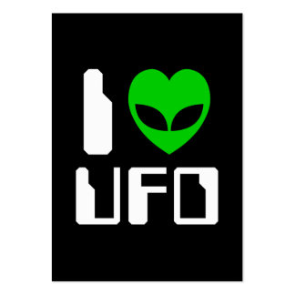 I Alien Heart UFO Business Cards