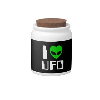 I Alien Heart UFO Candy Dishes