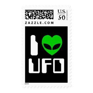 I Alien Heart UFO Postage